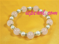 stretchy 6-7mm white freshwater pearl bracelet wholesale