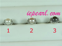 8-8.5mm freshwater pearl ring wholesale