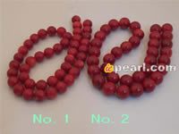 Wholesale sound red coral strands in factory price in low price