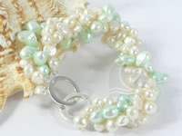 Wholesale four strands twisted freshwater pearl bracelet online