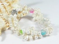 Snazzy fruits cluster freshwater pearl bracelet wholesale online