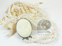white 4-5mm potato shape freshwater pearl necklace