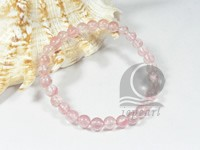 6mm light red round crystal stretchy bracelet