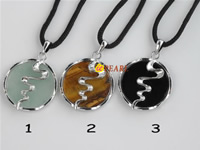 silver plated round gemstone pendants wholesale online
