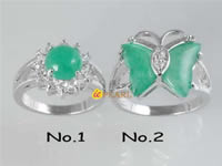 butterfly jade plated silver rings bulk wholesale
