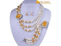 10-11mm nugget pearl necklace with oval quart clasp wholesale