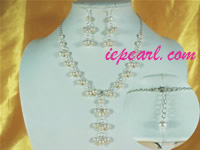 7-8mm white potato pearl necklace set on sale